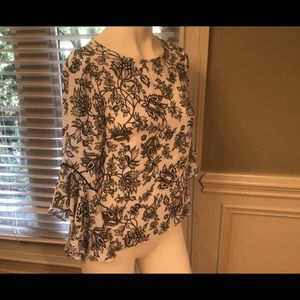 WHBM 3/4 sleeve blouse, excellent condition!Size 0